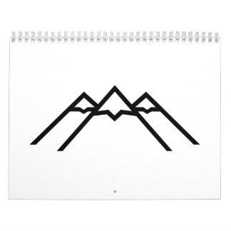 Mountains volcano calendar