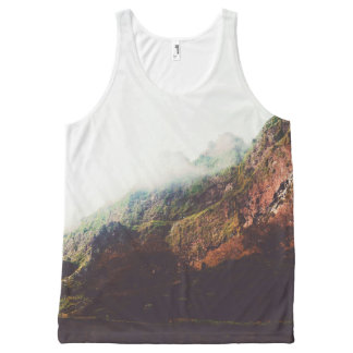 Mountains, Wanderlust, Adventure, Relaxing Nature All-Over-Print Tank Top