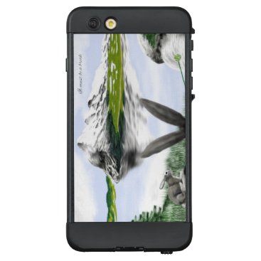 Mountains with lake and wild hare LifeProof NÜÜD iPhone 6 plus case