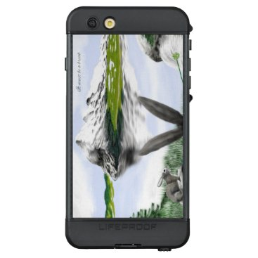 Mountains with lakes and wild hares LifeProof NÜÜD iPhone 6s plus case