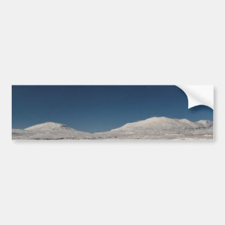 Mountains with Snow in Iceland Bumper Sticker