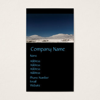Mountains with Snow in Iceland Business Card
