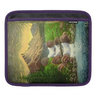 Mountainside Splash Acrylic Landscape iPad Sleeves
