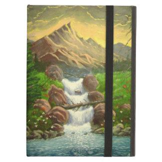 Mountainside Splash Acrylic Landscape Painting iPad Air Case