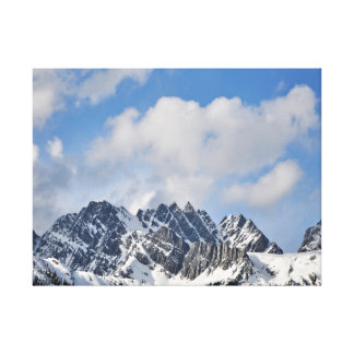 Mountaintops and Clouds Canvas Print