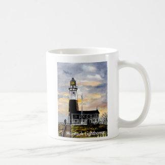 mountauk point lighthouse new york coffee mug