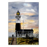 mountauk point lighthouse new york greeting cards