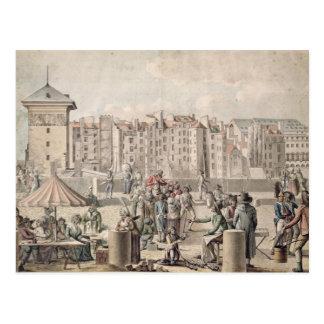 Mountebanks and Promenaders on the Pont Postcard