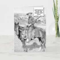 Mounted Cowboy Birthday Card