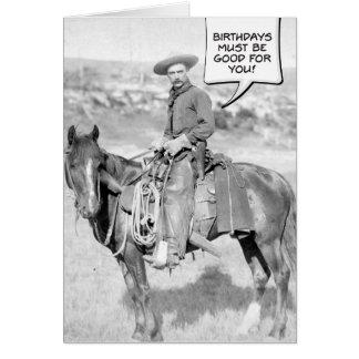 Mounted Cowboy Birthday Card