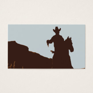 Mounted Cowboy on Horse Western Business Cards