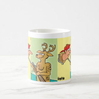 Mounted Deer Hunter Head cartoon coffee mug