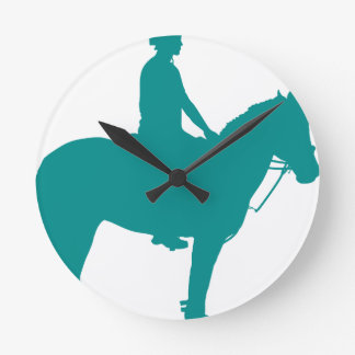 Mounted Games Pony Round Clock