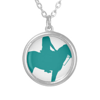 Mounted Games Pony Silver Plated Necklace
