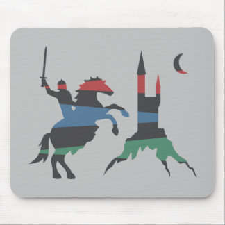 Mounted Hero vs Castle Mouse Pad
