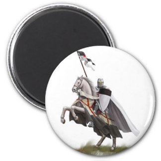 Mounted Knight Templar 2 Inch Round Magnet