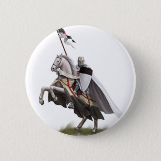 Mounted Knight Templar Button