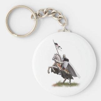 Mounted Knight Templar Keychain