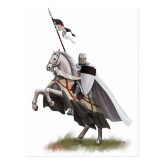 Mounted Knight Templar Postcard