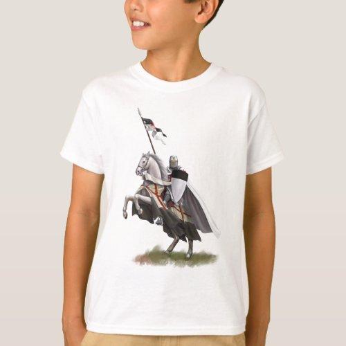 Mounted Knight Templar T_Shirt