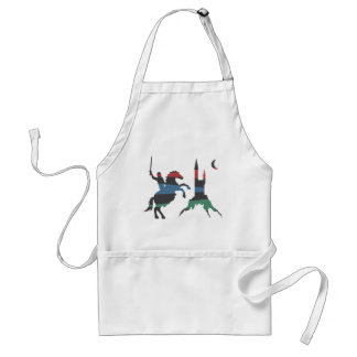 Mounted Knight vs Castle Adult Apron