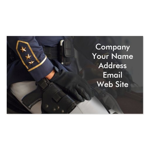 Mounted Police Double Sided Standard Business Cards Pack