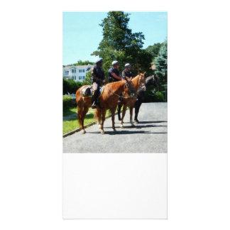 Mounted Police Profile Photo Greeting Card
