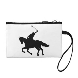 Mounted Polo Player Coin Wallets