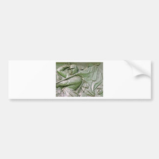 Mounted Prussian Soldier with Flag Green Tint 6ct Bumper Stickers