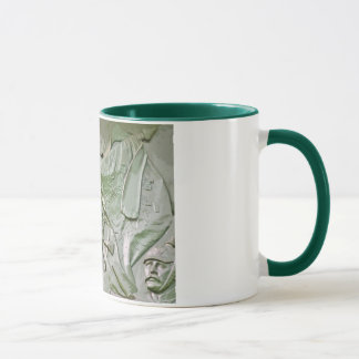 Mounted Prussian Soldier with Flag, Green Tint(6ct Mug