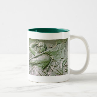 Mounted Prussian Soldier with Flag, Green Tint(6ct Two-Tone Coffee Mug