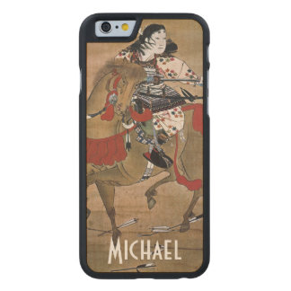 Mounted Samurai Carved Maple iPhone 6 Slim Case