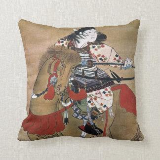 Mounted Samurai Throw Pillow