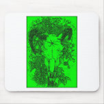 Mounted Stang Pencil Sketch in Green Mousepads