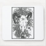 Mounted Stang Pencil Sketch in White Mousepads