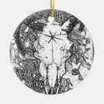Mounted Stang Pencil Sketch in White Ornament