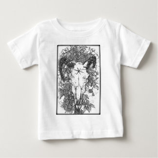 Mounted Stang Pencil Sketch in White Shirt