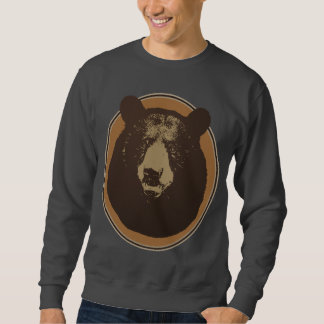 Mounted Taxidermy Bear Head Graphic Sweatshirt