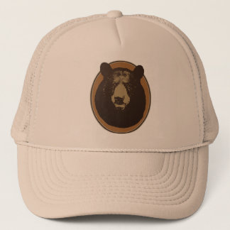 Mounted Taxidermy Bear Head Graphic Trucker Hat