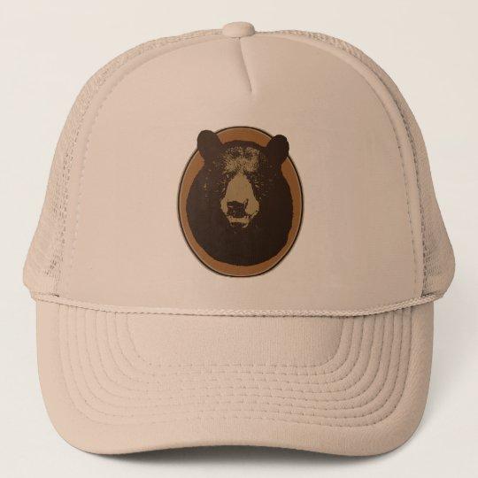 Mounted Taxidermy Bear Head Trucker Hat