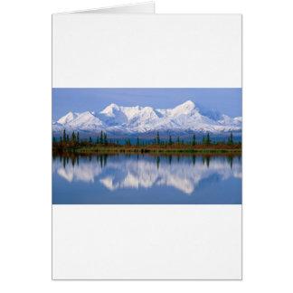 Mountians de Alaska Tarjeta De Felicitación