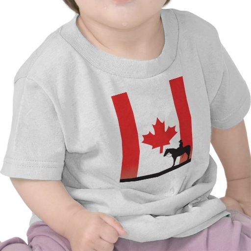 Mountie canadiense camiseta