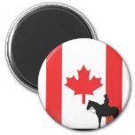 Mountie canadiense iman de nevera