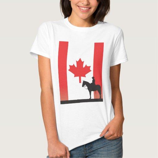 Mountie canadiense playeras