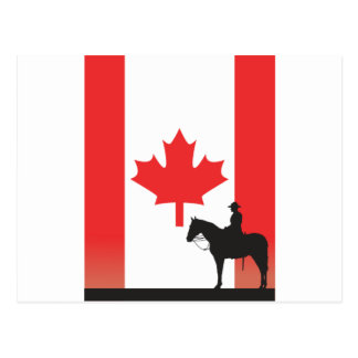 Mountie canadiense postal