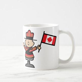 Mountie del dibujo animado taza de café