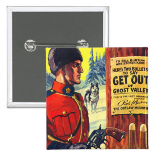 Mountie retro del proscrito de la revista de pulpa pin
