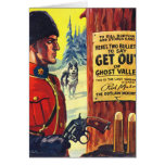 Mountie retro del proscrito de la revista de pulpa felicitacion