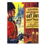 Mountie retro del proscrito de la revista de pulpa tarjeta postal