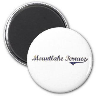 Mountlake Terrace Washington Classic Design 2 Inch Round Magnet